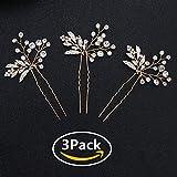 Miallo Wedding Hair Pins Bridal Headpiece Leaf bridal Decoration(Pack of 3)