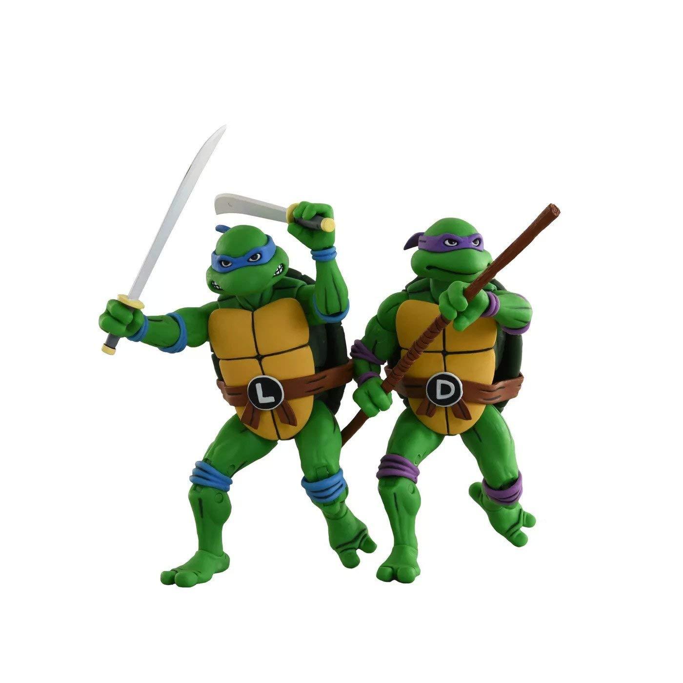 "NECA Teenage Mutant Ninja Turtles Leonardo and Donatello (Classic Cartoon) 7"" Action Figure 2 Pack Target Exclusive"
