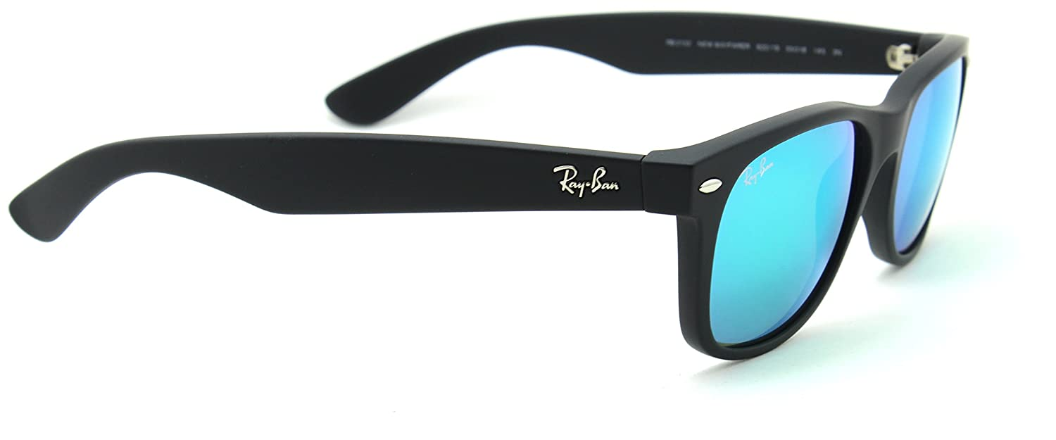 f44406d586 Amazon.com  Ray-Ban RB2132 622 19 New Wayfarer Flash Series Unisex Sunglasses  Green Mirror 55mm  Clothing