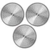 OXO Good Grips Easy Clean Shower Stall Drain Protector - Stainless Steel & Silicone (Set of 3)
