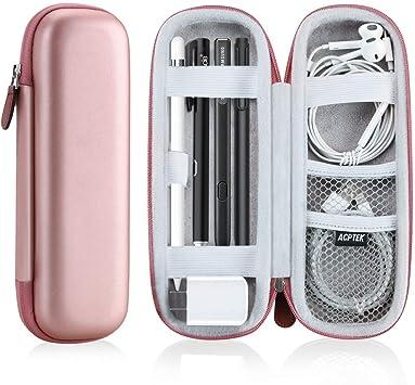 AGPTEK Estuche para Apple Pencil, Cubierta de EVA para Lápiz de iPad /Pro, Microsoft, Samsung, HAHAKEE, Wacom etc. Soporta Cable USB y Auriculares, Rosa: Amazon.es: Electrónica