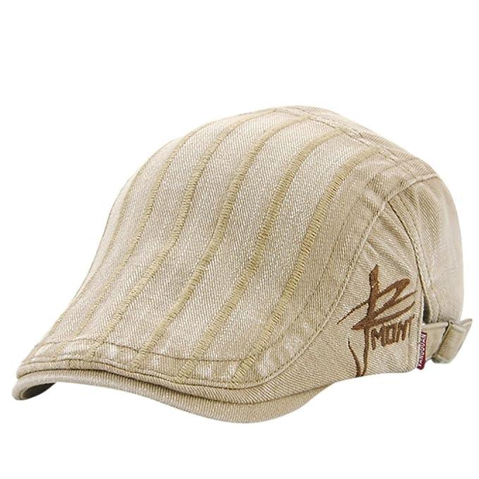 c89deb8d343 Amazon.com  Nacome Men s Cotton Flat Cap Ivy Gatsby Newsboy Hat Cabbie Hat  Gatsby Hat (Beige)  Sports   Outdoors
