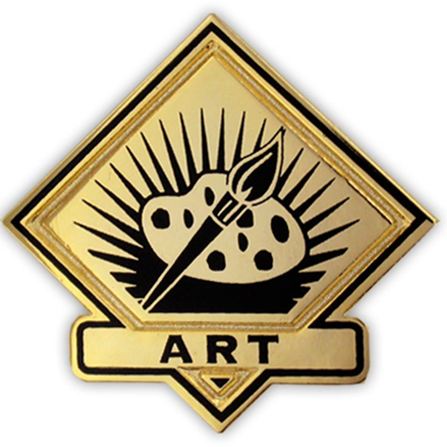 PinMart's Black and Gold Art Student School Teacher Lapel Pin for cheap