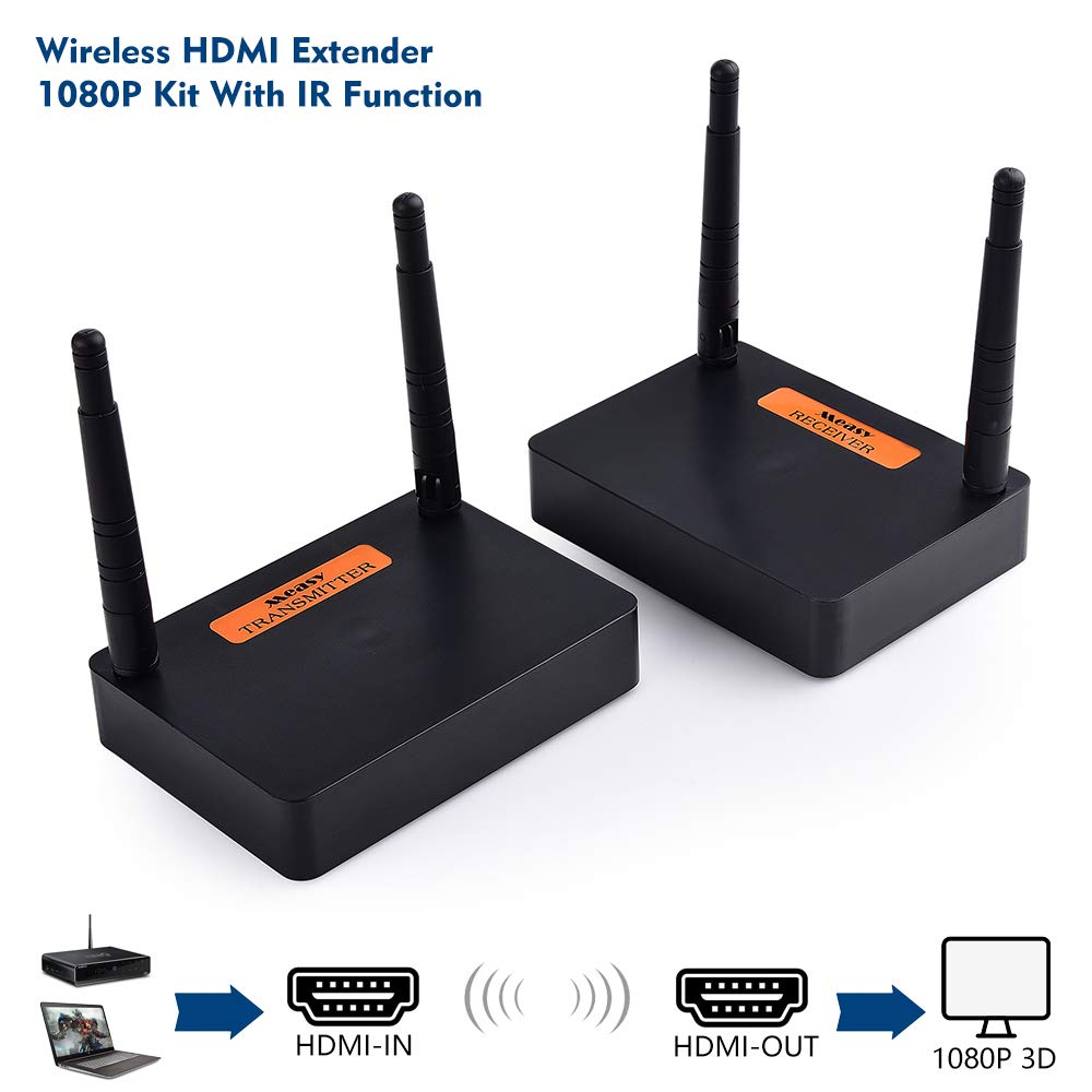 measy FHD676 2.4G/5G 1080P Wireless HDMI Video Audio Transmitter Receiver IR Extender up to 200M hdmi Extender HDMI Converter HDMI by measy