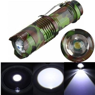 Lampe de poche, Happytop 1000LM Q5LED 3modes mise au point réglable XM-L Mini lampe torche haute performance non inclus Batteries