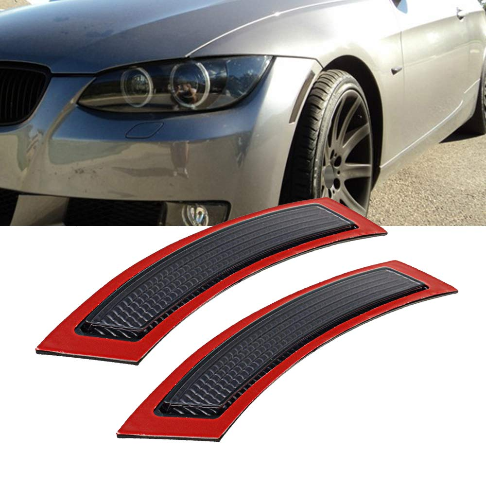 GSRECY 2pcs for BMW E92 E93 3 Series 2DR 2007-2013 Front Side Marke Fender Bumper Reflector (Smoke Lens)