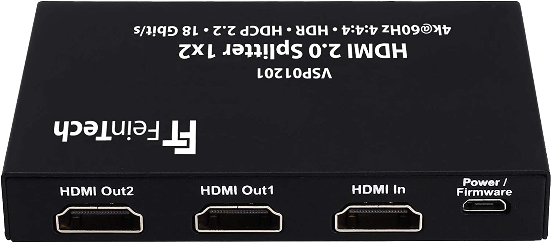 Feintech Vsp01201 Hdmi 2 0 Splitter 1 Auf 2 Verteiler Elektronik