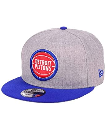 super popular 9f508 6943f Image Unavailable. Image not available for. Color  New Era Men s Detroit  Pistons Heather Gray 2TONE 9FIFTY Snapback Adjustable Hat