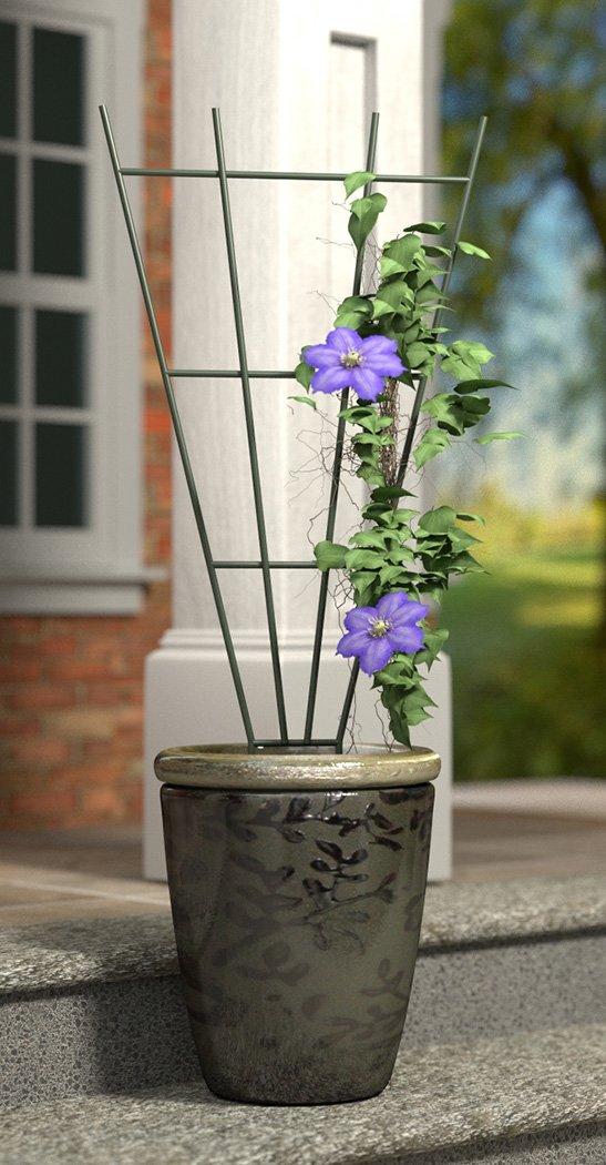 Panacea Products 36-Inch Fan Pot Trellis, Green