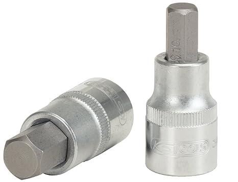 KS Tools 911.1306 - Llave de vaso para destornillador hexagonal (tamaño corto, 6 mm, 1/2