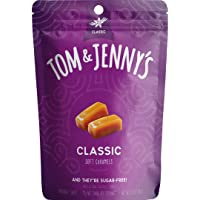 Tom & Jenny's Sugar Free Soft Caramel Candy with Sea Salt and Vanilla - Low Net Carb Keto Candy - with Xylitol and…