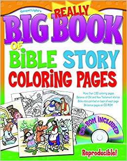 The Really Big Book Of Bible Story Coloring Pages With Cd Rom Big
