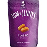 Tom & Jenny's Sugar Free Soft Caramel Candy with Sea Salt and Vanilla - Low Net Carb Keto Candy - with Xylitol and Maltitol -