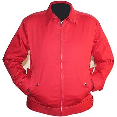 2fcc9047de7 Rebel Without a Cause Jim Stark James Dean Red Cotton Casual Jacket (XS