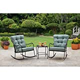 Better Homes and Gardens Seacliff 3-Piece Rocking Chair Bistro Set (Teal)