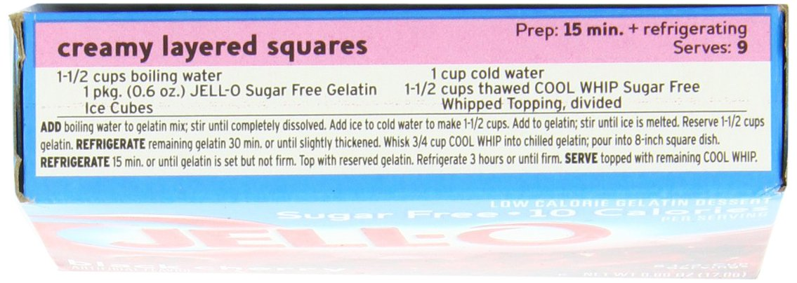 Jell-O Sugar-Free Gelatin Dessert, Black Cherry, 0.6-Ounce Boxes (Pack of 24) by Jell-O (Image #6)