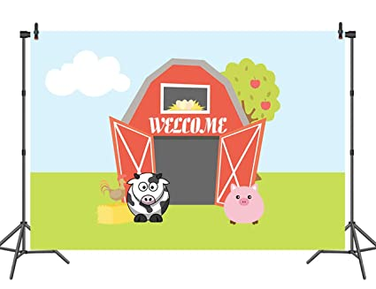 Amazon Com Sensfun Cartoon Backdrop 7x5ft Animals Kids Birthday