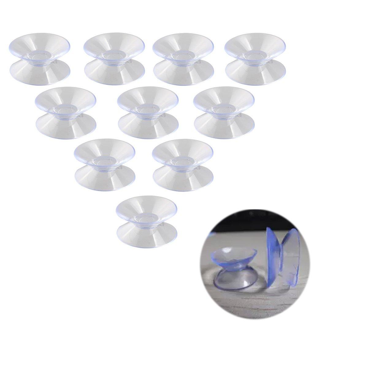con almohadillas 30/mm de ancho 10 ventosas Leorx de doble cara/para vidrio y pl/ástico