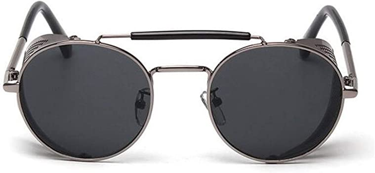 Amazon.com: Retro Steampunk Sunglasses Round Designer Steam ...