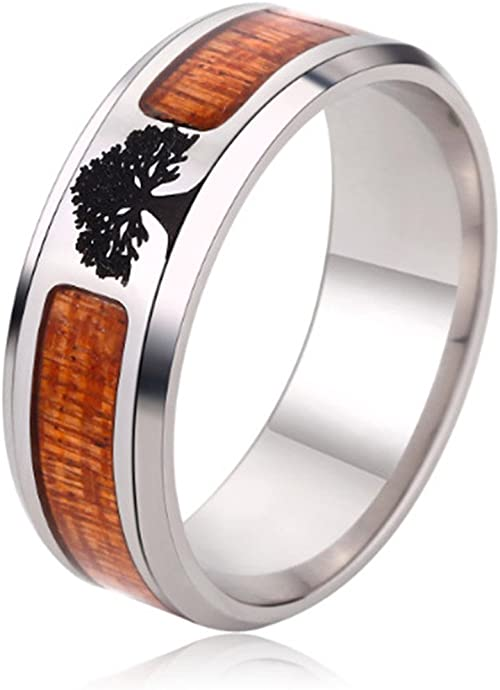 AWLY Couple Rings Two Tone Heart Cut Cubic Zirconia CZ Wedding Ring Sets for Women /& Wood Grain Titanium Steel Wedding Band for Men