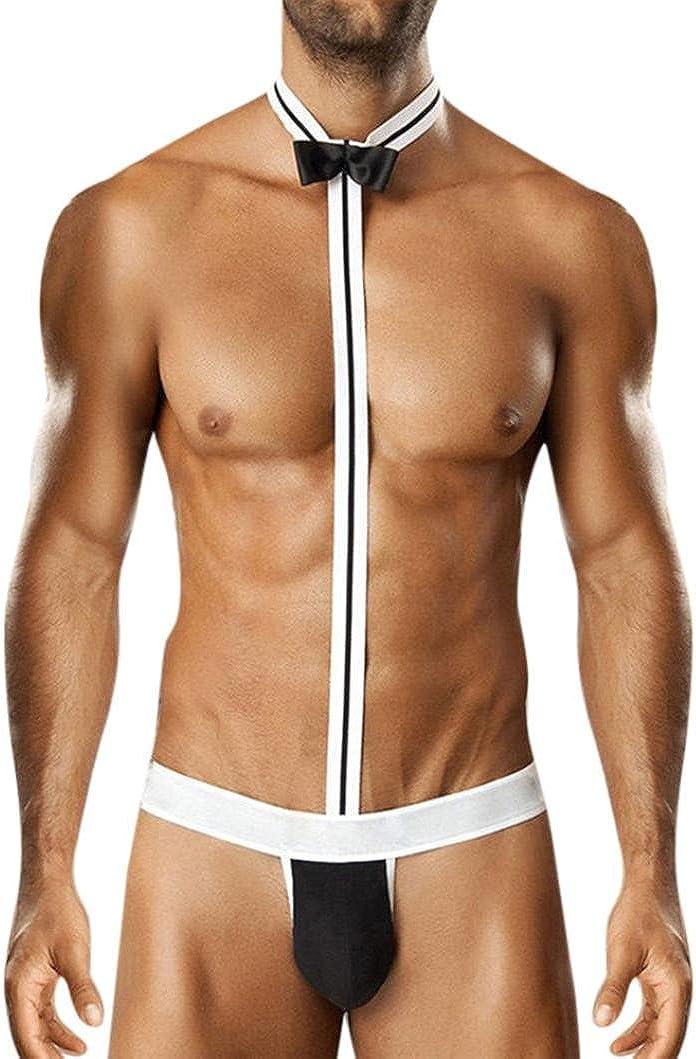 Fossen Ropa Interior Hombre Erotica Ropa Lencería de Disfraz Lazo (Negro): Amazon.es: Ropa y accesorios