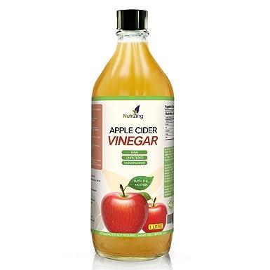 NutriZing Vinagre de Sidra de Manzana ~ Contiene Madre ~ Procedente de Manzanas Escocesas ~ Puro