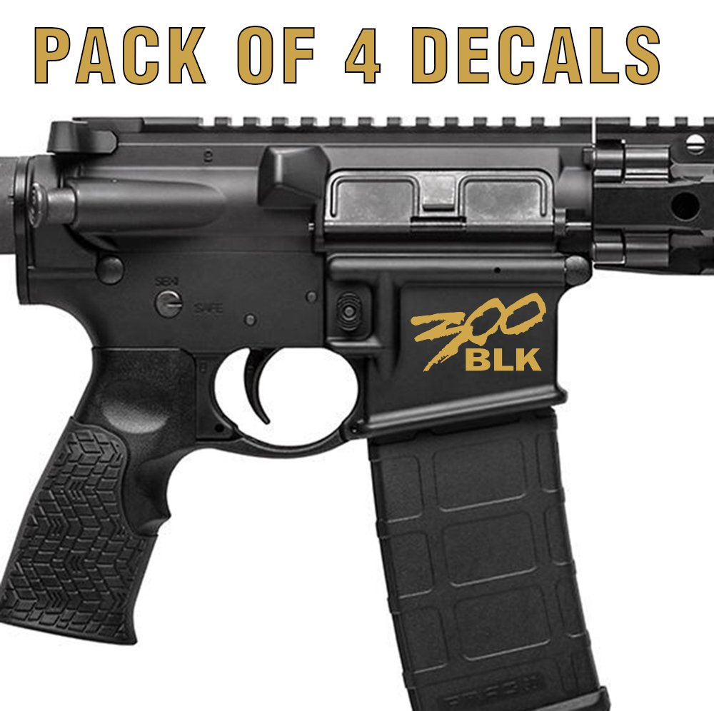 Amazon com 4x 300 blackout blk ar15 lower graphic spartan style 300 aac ar decal blood red sports outdoors