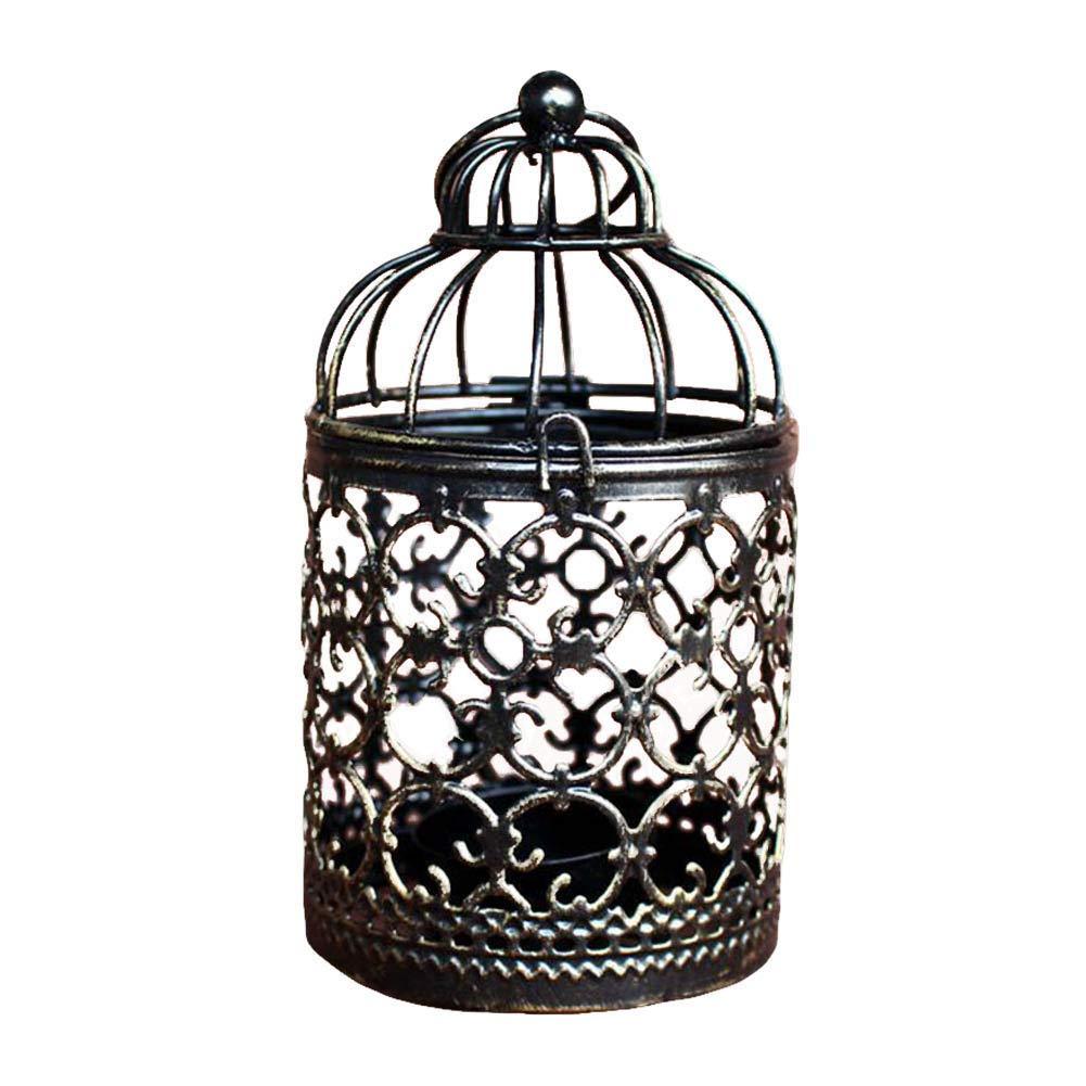 Weanty 4 portavelas en forma de jaula de pájaros, farolillos de ...