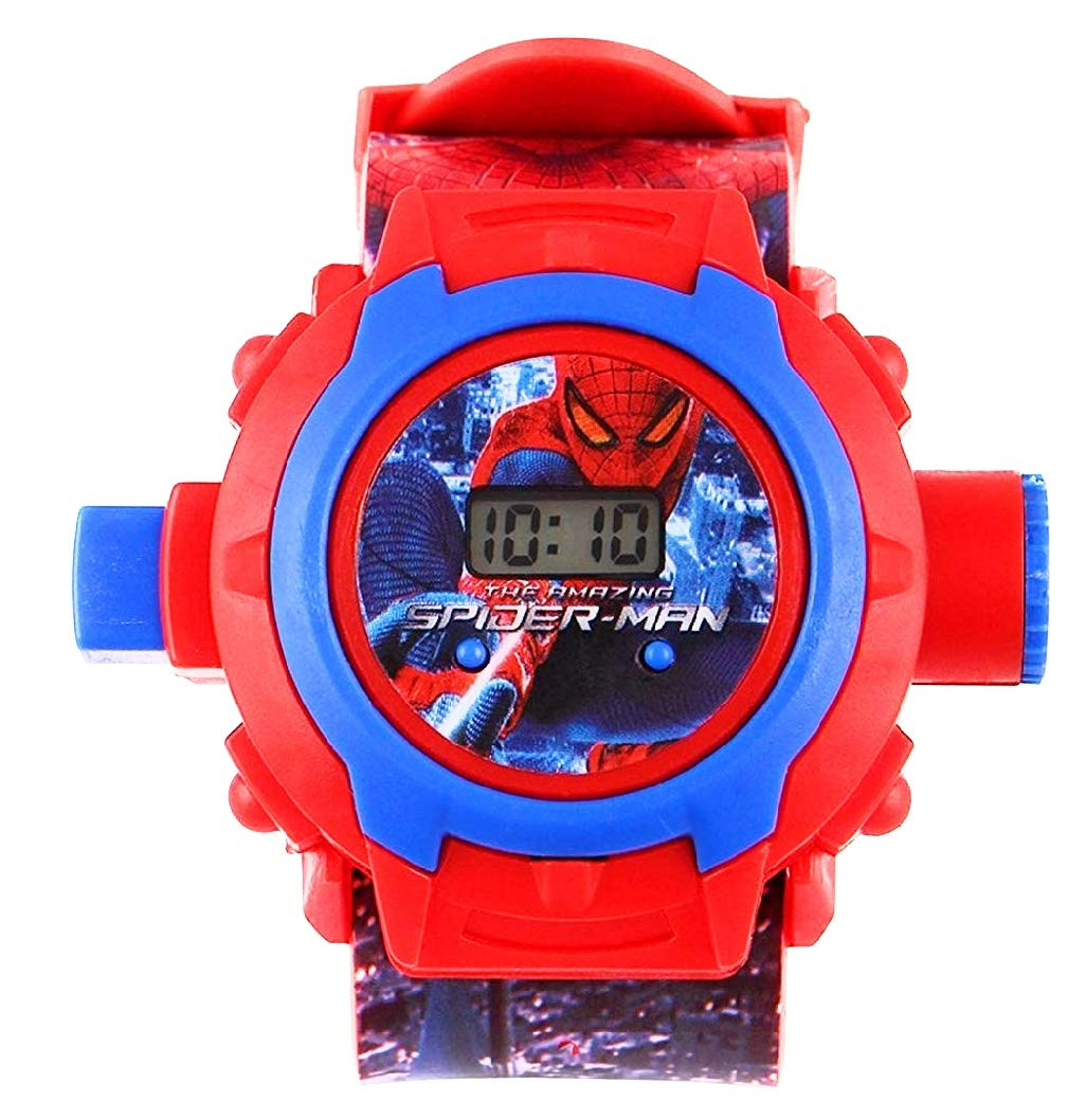Generic Digital 24 Images Spiderman Projector Watch for Kids, Diwali Gift, Birthday Return Gift