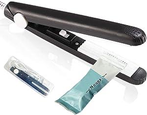 Mini Sealer Handheld Bag Sealer for Food Storage Portable Smart Heat Sealer Cool Plastic Sealer kitchen Gadgets for Chip Bags Plastic Bags Snack Bags(black)