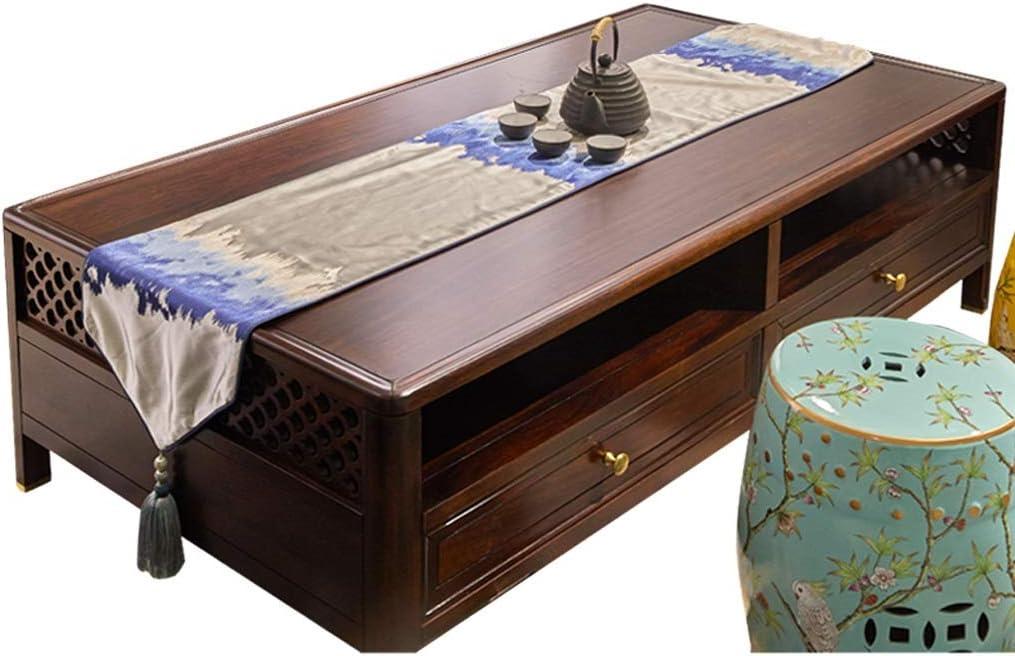 テーブルランナー ホーム装飾コーヒーテーブルについてTassles、中国の禅茶テーブルランナー とテーブルランナー、 (Size : 35x210cm)