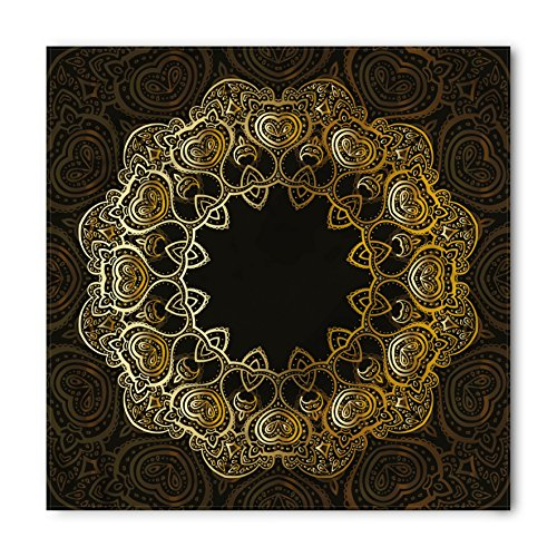 (Lunarable Mandala Bandana, Sacred Blossoms and Hearts, Unisex Head and Neck Tie)
