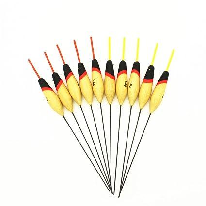 Agape 10 x Original color de balsa Pesca flotador corcho de pesca 1,8 G