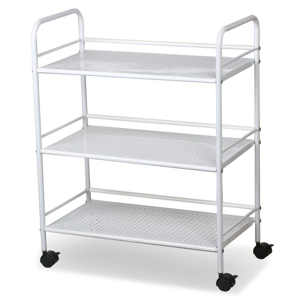 World Pride Rolling Salon Trolley Cart, 3 Tier, White by World Pride