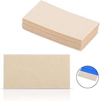 FOSHIO White Soft Felt Squeegee Automotive Vinyl Wrapping Tool Wool Material Soft Window Tint Film Installing Tool Pack of 2