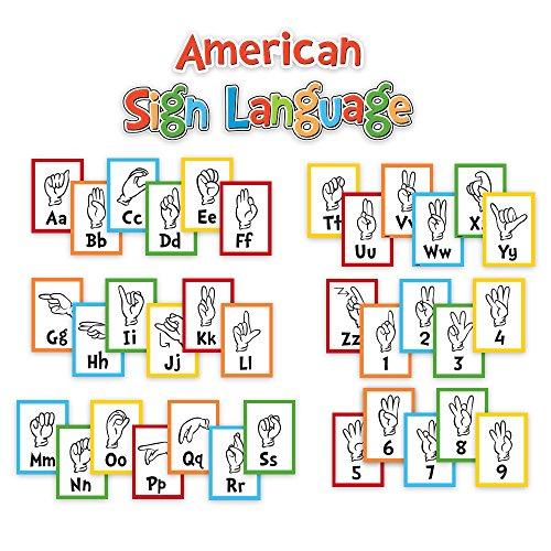Eureka Classroom Bulletin Board Set, Dr. Seuss Sign Language Alphabet Mini Bulletin