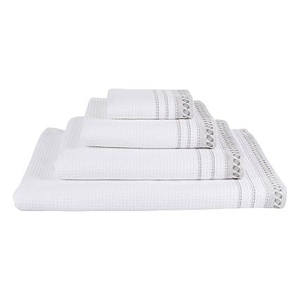 Le Jacquard Francais - Toalla de baño Caresse, algodón, blanco, 50 x 100