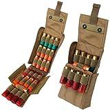 HOT 25 Round Shotgun Shotshell Reload Holder Molle Pouch For 12 Gauge/20G (Tan)
