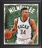 Best Sports Memorabilia Sports Memorabilia Collage Makers - Giannis Antetokounmpo Milwaukee Bucks Framed 15