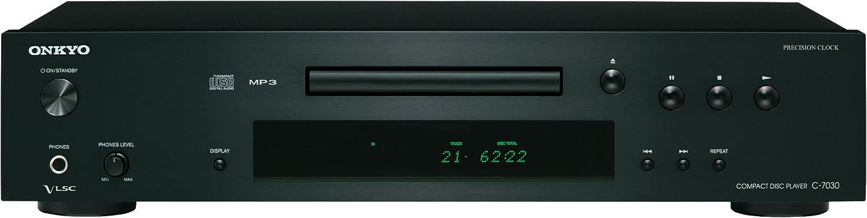 Onkyo C 7030(B) CD Player (Wiedergabe von Audio CDCD RCD RWMP3 CD, VLSC Technologie für Pulsrauschunterdrückung, Remote Interactive Fernbedienung,