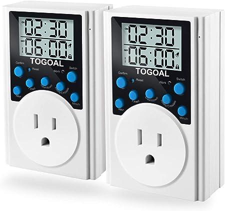 2 x 24//7 Digiltal Programmable Timer Main Plug Socket With LCD Display