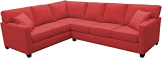 product image for BuildASofa Canwick Large L Sectional - Left Facing (Bennett Red)