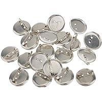 Lyanther 20pcs spilla d'argento spilla di sicurezza posteriore base 20mm per fai da te forcine/spille