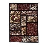"Well Woven Sante Fe Leopard Black 7'10"" X 9'10"" Animal Print Animal Print Area Rug - 54233"