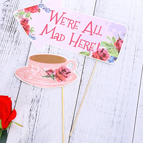 Tea-Party-Photo-Booth-Props-Stick-Funny-Supplies-Wedding-Bachelorette-Engagement thumbnail 5