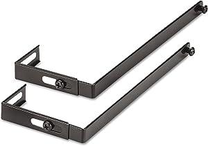Universal 08173 Adjustable Cubicle Hangers, Black, Set of Two