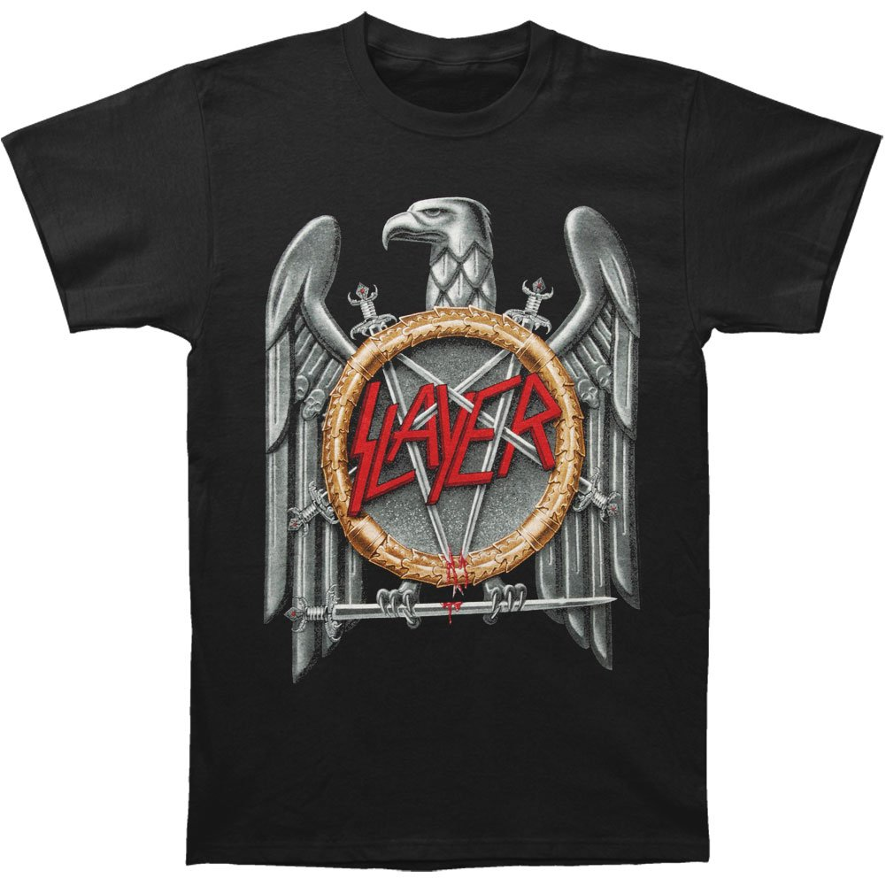 36e8fe847053 Amazon.com: Slayer Men's Silver Eagle T-shirt Small Black: Clothing