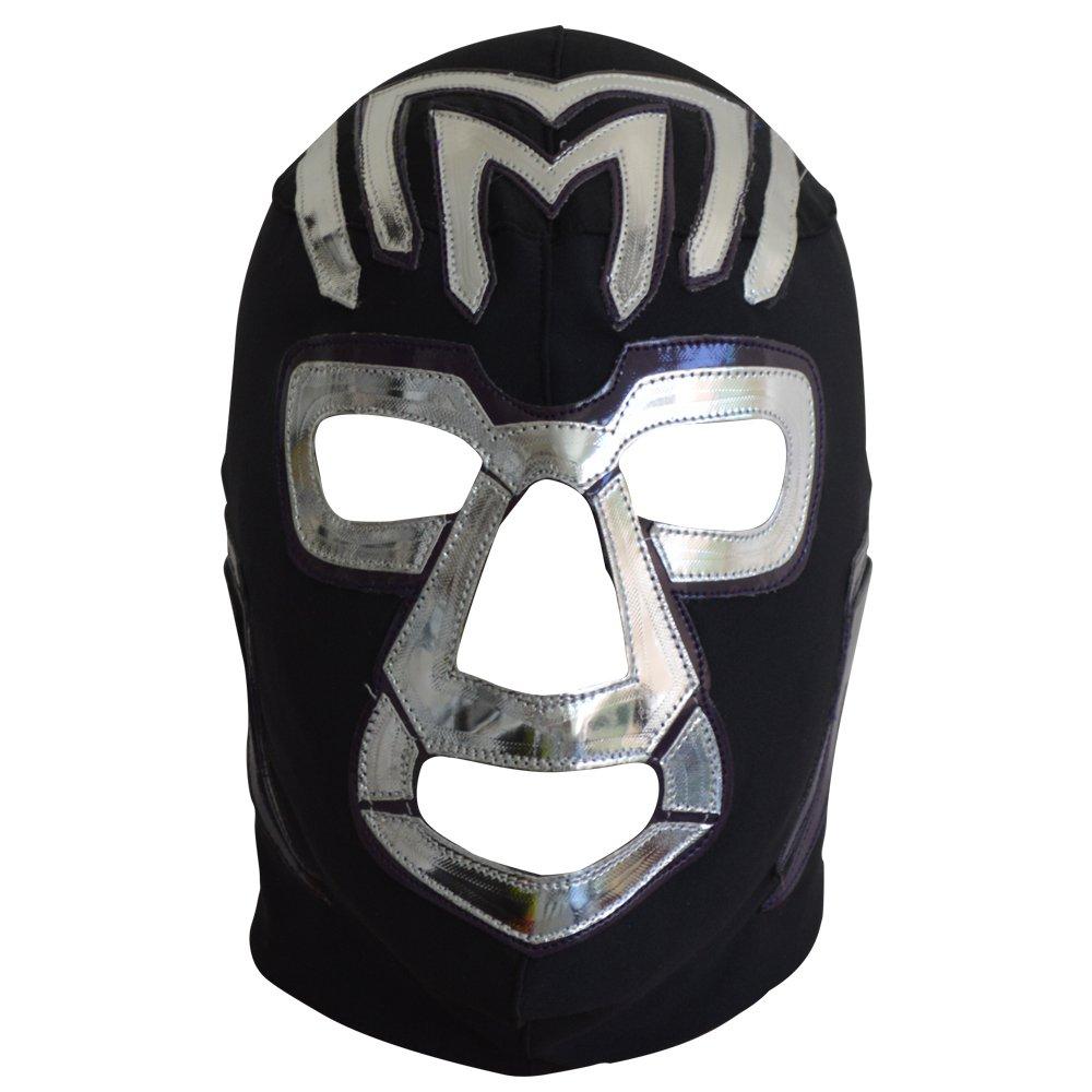 Deportes Martinez Mil Muertes Lycra Lucha Libre Wrestling Mask Adult Luchador Mask Costume Wear Pro Black and Purple