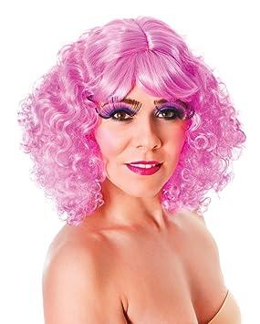 Bristol Novelty bw802 Nicki peluca rosa rizado (un tamaño)