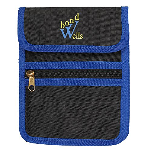 Travel Wallet-Neck Pouch-Purse with RFID Protect Cards-Passport Holder-by WellsBond